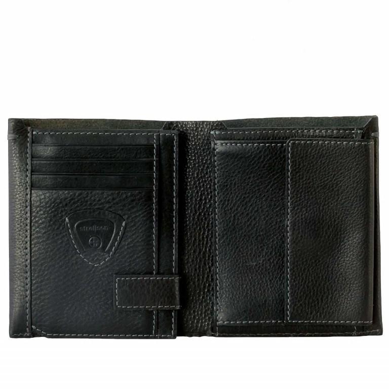 Strellson Woodford BillFold V8 Kombibörse Leder Black, Farbe: schwarz, Marke: Strellson, EAN: 4053533241842, Abmessungen in cm: 12.0x10.0x2.5, Bild 2 von 3