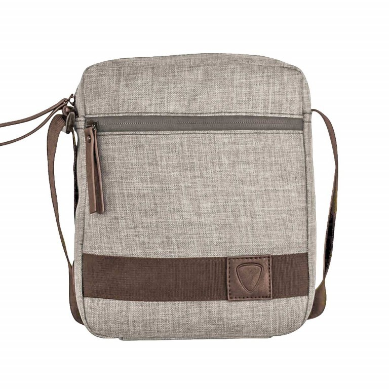 Strellson Northwood Shoulderbag SV Light-Grey, Farbe: grau, Marke: Strellson, EAN: 4053533408887, Abmessungen in cm: 20.5x24.5x5.5, Bild 1 von 1