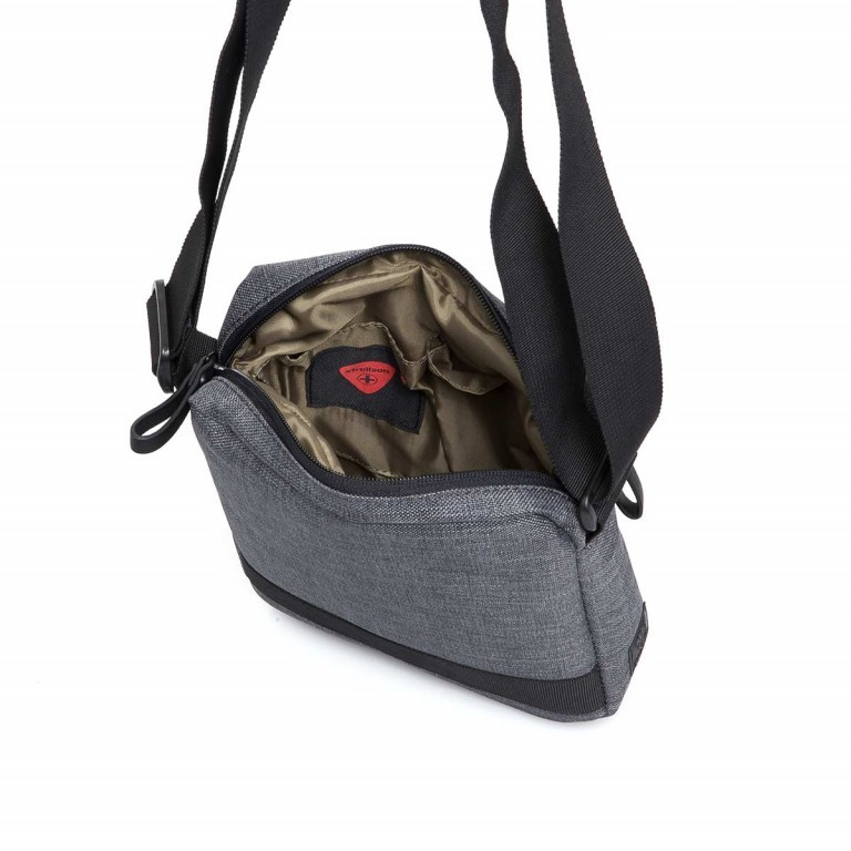 Strellson Northwood Shoulderbag SV Dark Grey, Farbe: anthrazit, Marke: Strellson, EAN: 4053533401949, Abmessungen in cm: 20.5x24.5x5.5, Bild 4 von 4