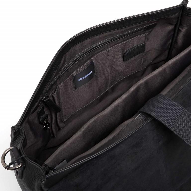 Strellson Garret Briefbag S Black, Farbe: schwarz, Marke: Strellson, EAN: 4053533403394, Abmessungen in cm: 40.0x29.0x12.0, Bild 3 von 4
