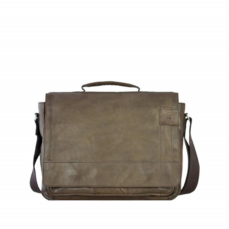 Strellson Upminster Briefbag L Dark Brown, Farbe: braun, Marke: Strellson, EAN: 4053533404087, Abmessungen in cm: 40.0x30.0x10.0, Bild 1 von 4