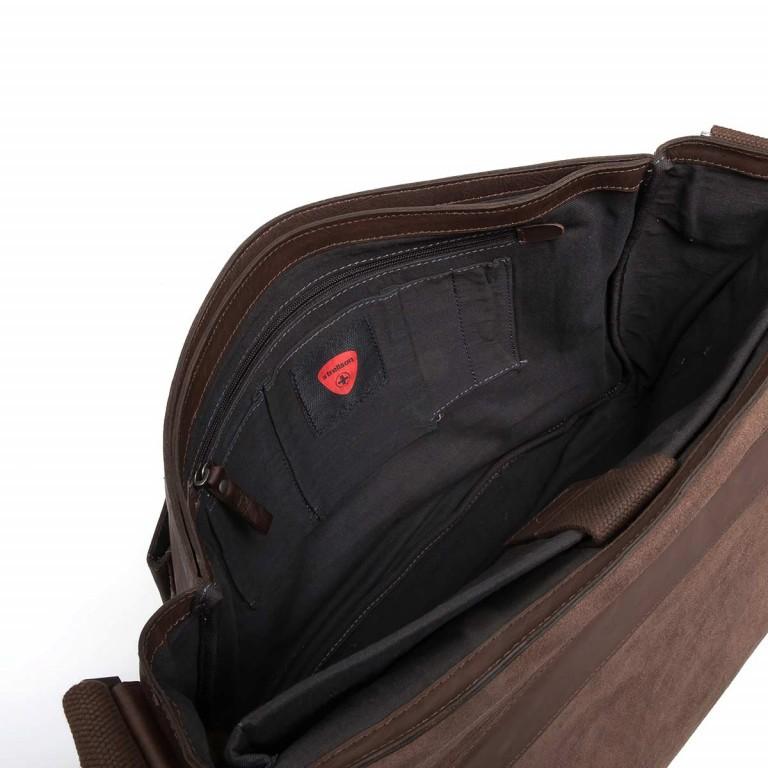 Strellson Upminster Briefbag L Dark Brown, Farbe: braun, Marke: Strellson, EAN: 4053533404087, Abmessungen in cm: 40.0x30.0x10.0, Bild 3 von 4