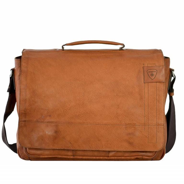 Strellson Upminster Briefbag L Cognac, Farbe: cognac, Marke: Strellson, EAN: 4053533404094, Abmessungen in cm: 40.0x30.0x10.0, Bild 1 von 4