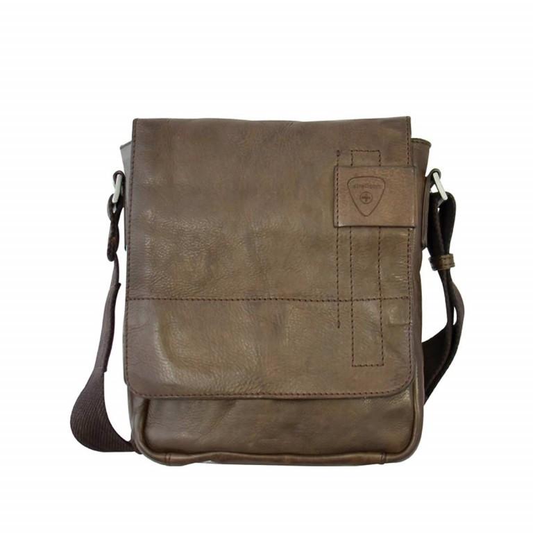 Strellson Upminster Messenger SV Dark Brown, Farbe: braun, Marke: Strellson, EAN: 4053533404353, Abmessungen in cm: 20.0x23.0x6.0, Bild 1 von 3