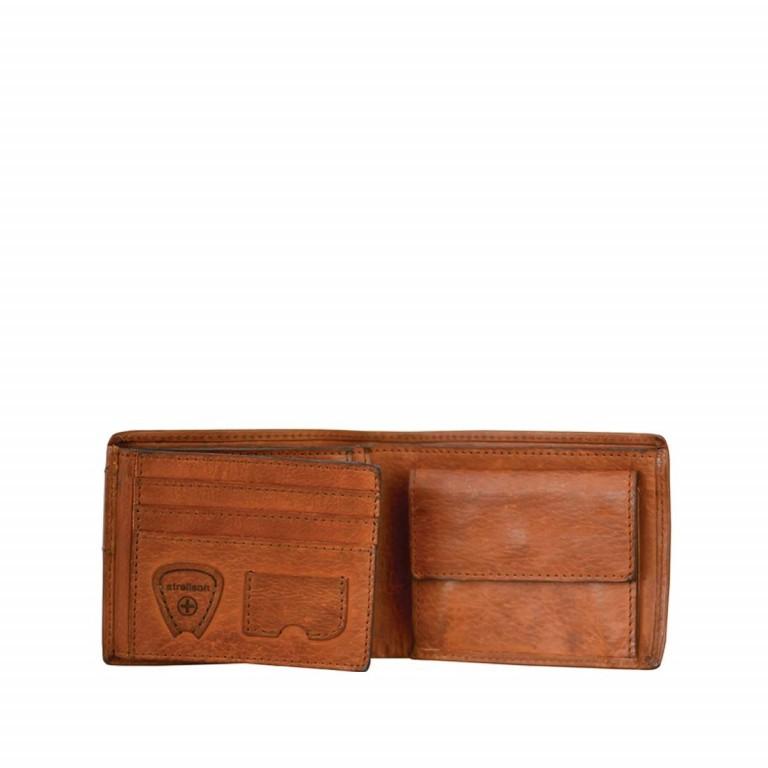 Strellson Upminster Billfold H6 Cognac, Farbe: cognac, Marke: Strellson, EAN: 4053533404506, Abmessungen in cm: 12.0x9.5x2.0, Bild 2 von 2