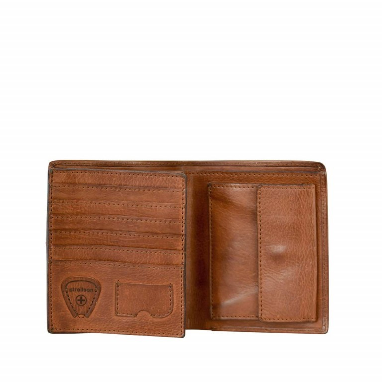 Strellson Upminster Billfold V12 Cognac, Farbe: cognac, Marke: Strellson, EAN: 4053533404575, Abmessungen in cm: 12.5x10.0x2.5, Bild 2 von 2