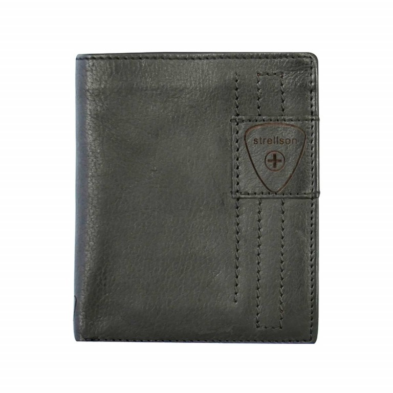 Strellson Upminster Billfold V12 Black, Farbe: schwarz, Marke: Strellson, EAN: 4053533404582, Abmessungen in cm: 12.5x10.0x2.5, Bild 1 von 2