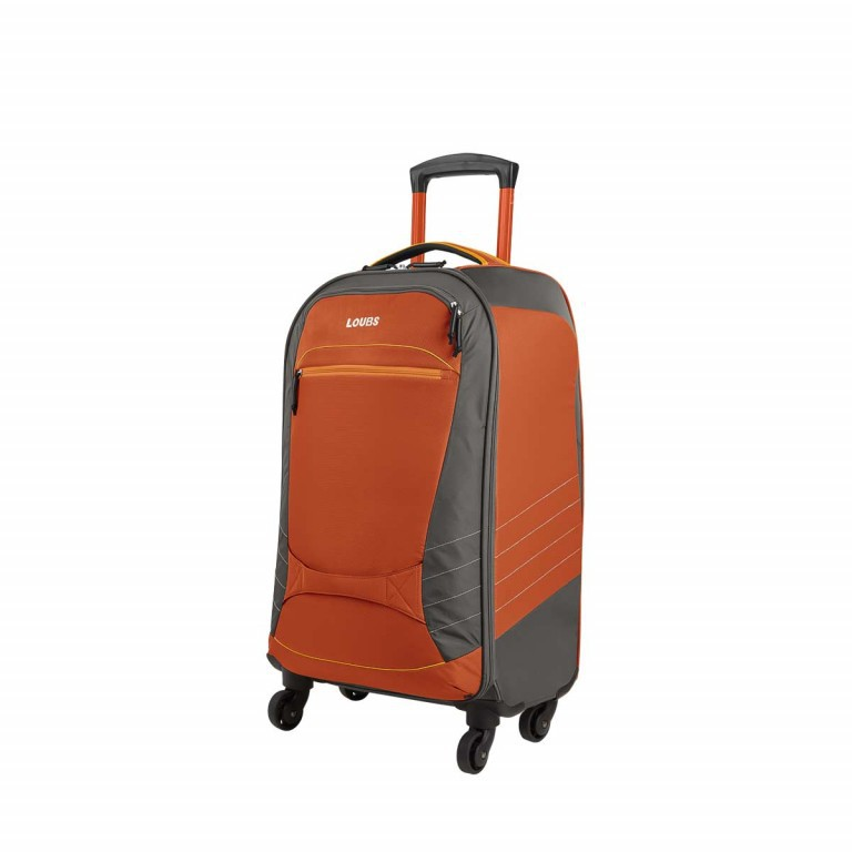 Loubs Sport Spinner-Trolley 4 Rollen S 59cm Orange, Farbe: anthrazit, grau, orange, Marke: Loubs, Abmessungen in cm: 35.0x59.0x22.0, Bild 2 von 4