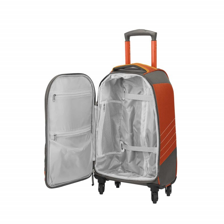 Loubs Sport Spinner-Trolley 4 Rollen S 59cm Orange, Farbe: anthrazit, grau, orange, Marke: Loubs, Abmessungen in cm: 35.0x59.0x22.0, Bild 3 von 4