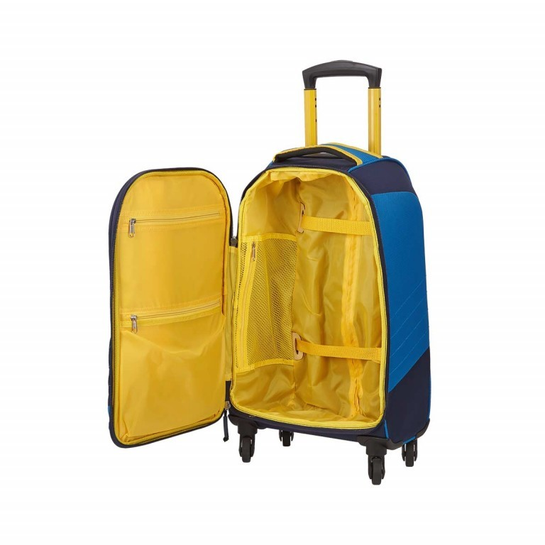 Loubs Sport Spinner-Trolley 4 Rollen S 59cm Blau, Farbe: blau/petrol, Marke: Loubs, Abmessungen in cm: 35.0x59.0x22.0, Bild 3 von 4