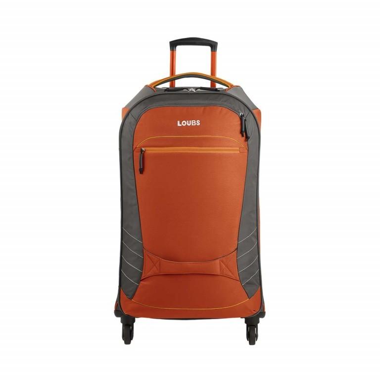 Loubs Sport Spinner-Trolley 4 Rollen M 68cm , Farbe: anthrazit, grau, blau/petrol, orange, Marke: Loubs, Abmessungen in cm: 39.0x68.0x26.0, Bild 1 von 1