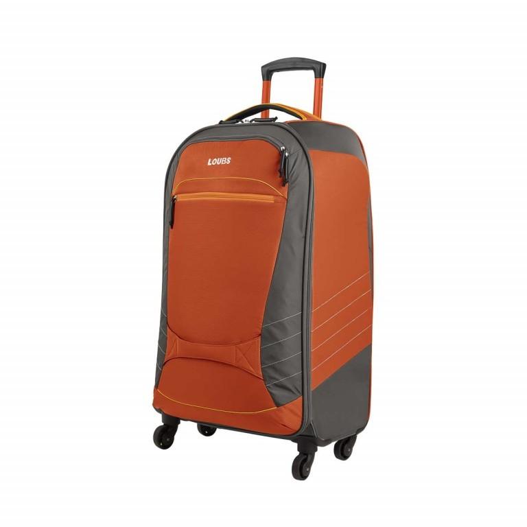 Loubs Sport Spinner-Trolley 4 Rollen M 68cm Orange, Farbe: anthrazit, grau, orange, Marke: Loubs, Abmessungen in cm: 39.0x68.0x26.0, Bild 2 von 4