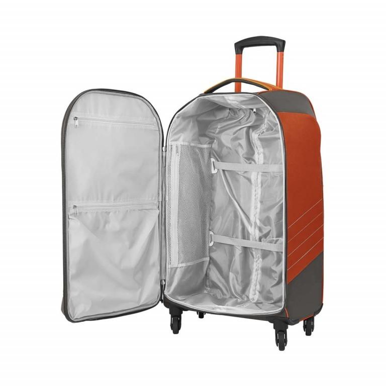 Loubs Sport Spinner-Trolley 4 Rollen M 68cm Orange, Farbe: anthrazit, grau, orange, Marke: Loubs, Abmessungen in cm: 39.0x68.0x26.0, Bild 3 von 4