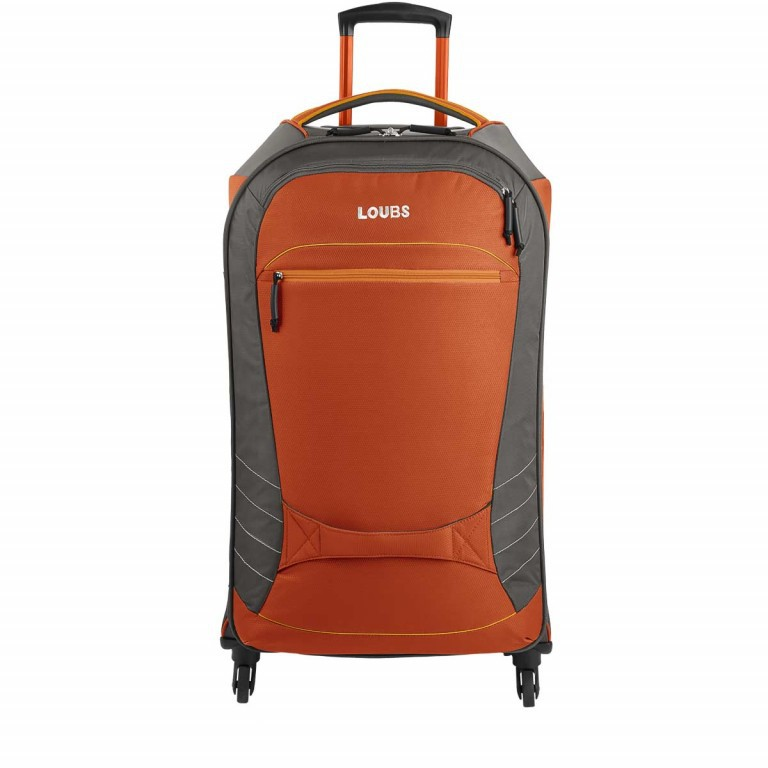 Loubs Sport Spinner-Trolley 4 Rollen L 77cm Orange, Farbe: anthrazit, grau, orange, Marke: Loubs, Abmessungen in cm: 45.0x77.0x31.0, Bild 1 von 4