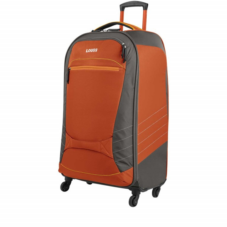 Loubs Sport Spinner-Trolley 4 Rollen L 77cm Orange, Farbe: anthrazit, grau, orange, Marke: Loubs, Abmessungen in cm: 45.0x77.0x31.0, Bild 2 von 4