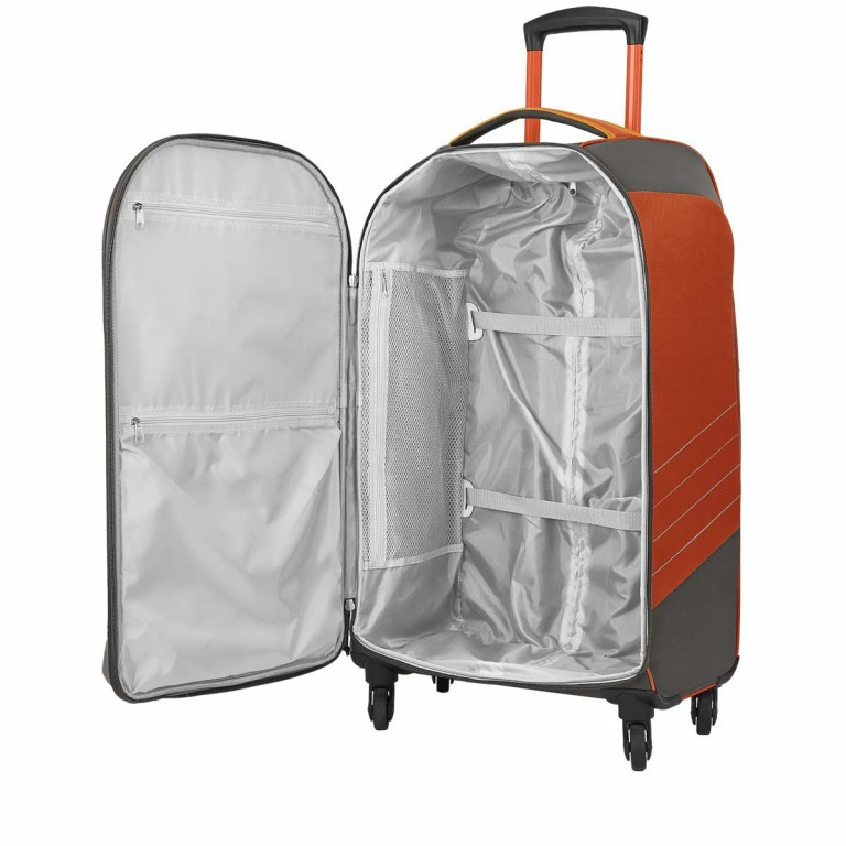 Loubs Sport Spinner-Trolley 4 Rollen L 77cm Orange, Farbe: anthrazit, grau, orange, Marke: Loubs, Abmessungen in cm: 45.0x77.0x31.0, Bild 3 von 4