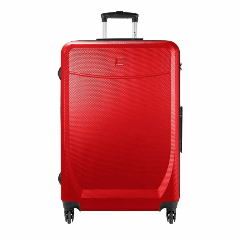 Loubs Trolley 4-Rollen Brisbane h 76cm Rot, Farbe: rot/weinrot, Manufacturer: Loubs, Dimensions (cm): 50.0x76.0x27.0, Image 1 of 5