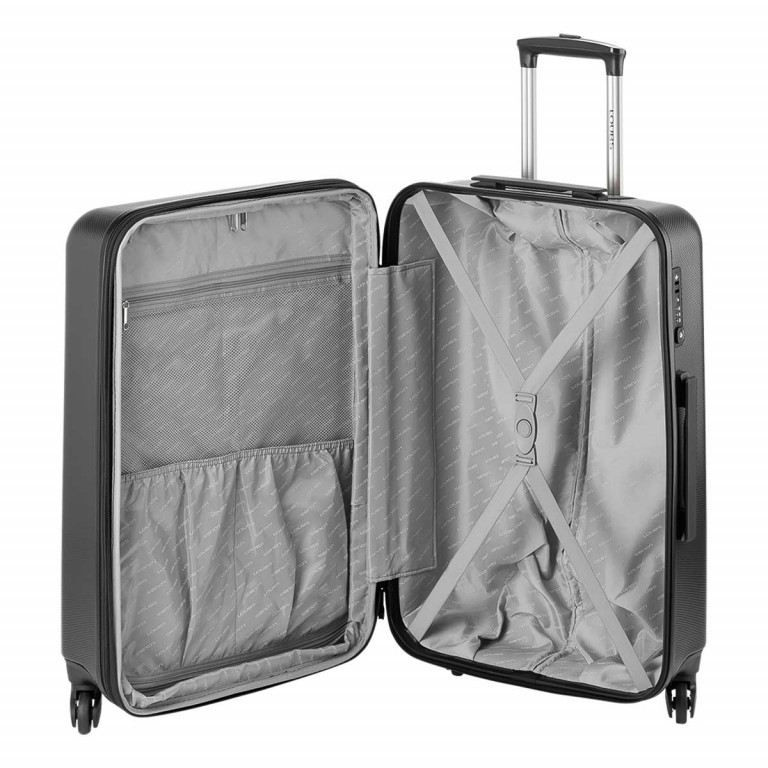 Loubs Trolley 4-Rollen Brisbane d 66cm Anthra, Farbe: anthrazit, Manufacturer: Loubs, Dimensions (cm): 44.0x66.0x27.0, Image 4 of 5