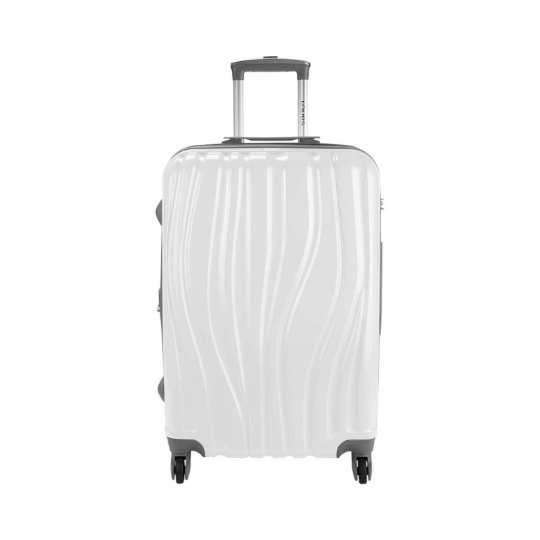 Loubs Trolley 4-Rollen Tulip M 66cm Weiss, Farbe: weiß, Manufacturer: Loubs, Dimensions (cm): 44.0x66.0x27.0, Image 1 of 5