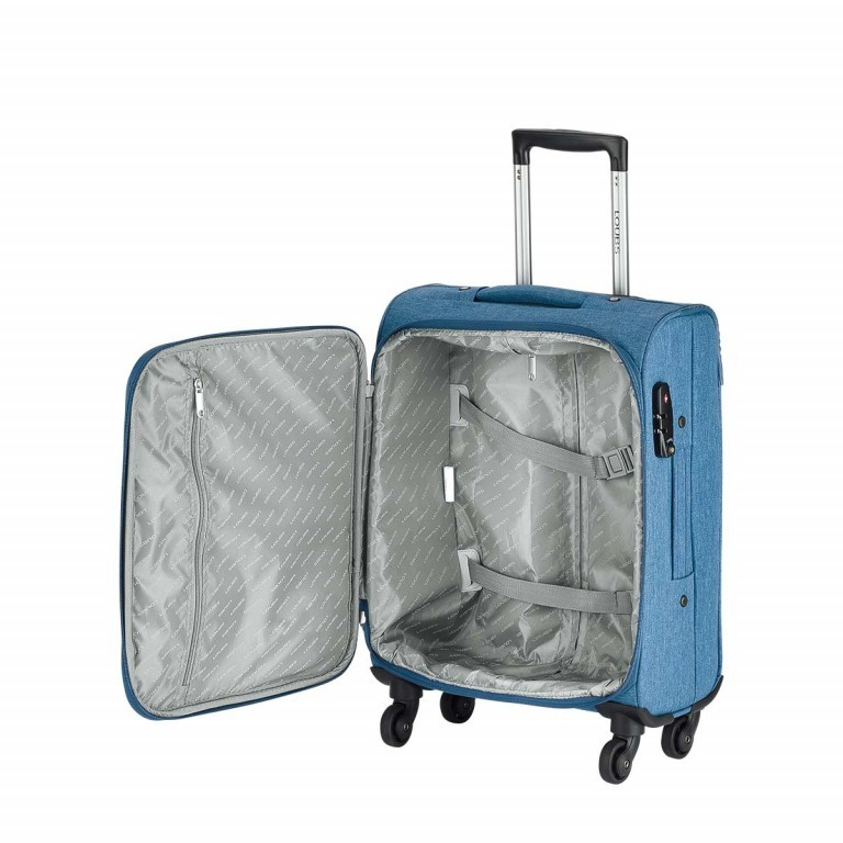 LOUBS Trolley Townsville 52cm Jeansblau, Farbe: blau/petrol, Manufacturer: Loubs, Dimensions (cm): 38.0x52.0x20.0, Image 3 of 5