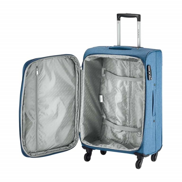 LOUBS Trolley Townsville 76cm Jeansblau, Farbe: blau/petrol, Marke: Loubs, Abmessungen in cm: 47.0x76.0x30.0, Bild 3 von 6