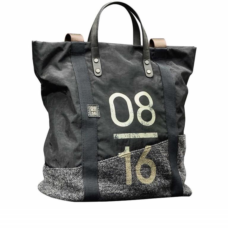08|16 Zaandam IMA Shopper Rucksack Kombi Dark Grey, Farbe: grau, Marke: 08|16, EAN: 4053533457946, Abmessungen in cm: 36.0x40.0x15.0, Bild 1 von 1