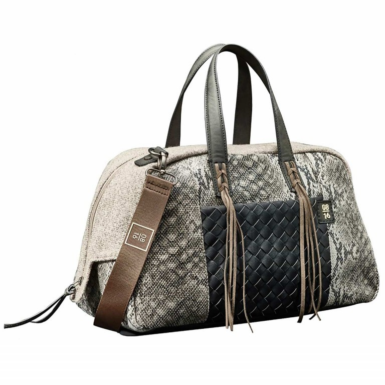 08|16 Hoorn Dette Handbag M Black, Farbe: schwarz, Marke: 08|16, EAN: 4053533454976, Abmessungen in cm: 40.0x25.0x15.0, Bild 1 von 1
