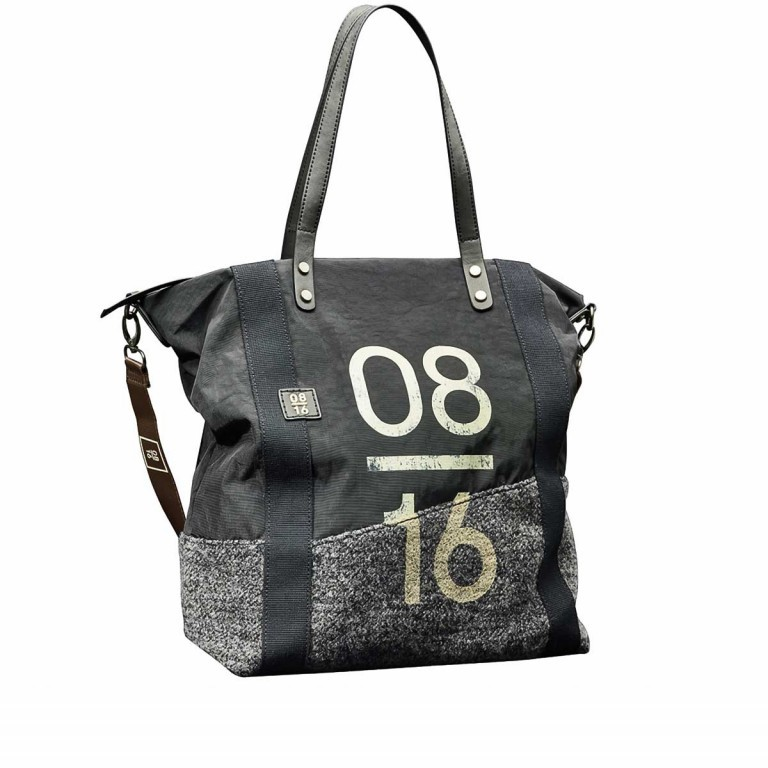 08|16 Zaandam Hanne Shopper L Dark Grey, Farbe: grau, Manufacturer: 08|16, EAN: 4053533480678, Dimensions (cm): 35.0x40.0x14.0, Image 1 of 1