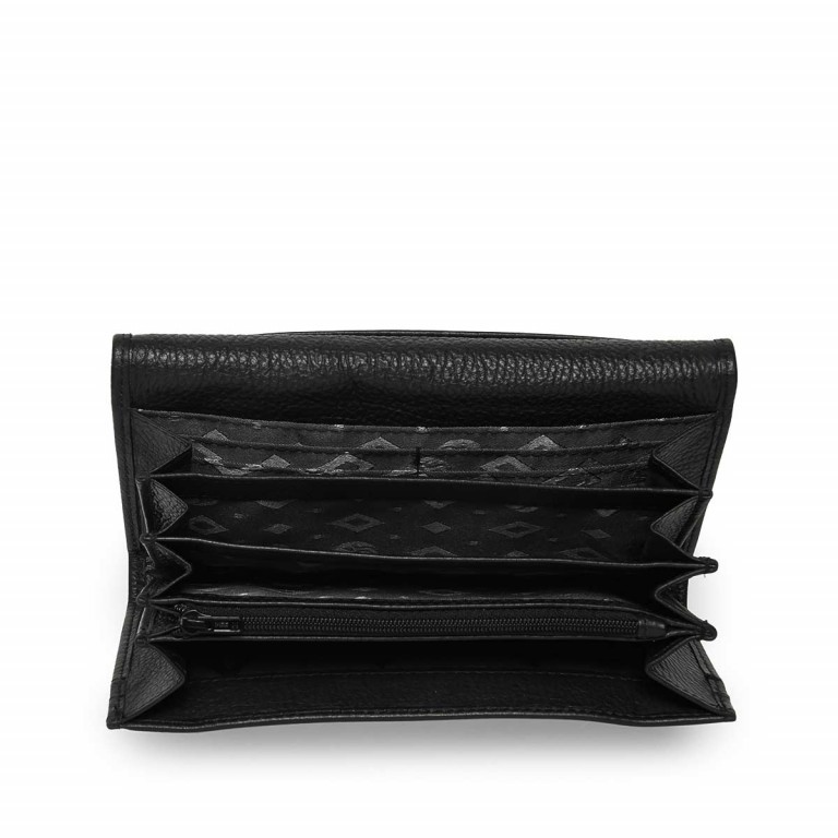 Adax Cormorano 447092 Große Börse Black, Farbe: schwarz, Marke: Adax, EAN: 5705483161136, Abmessungen in cm: 19.0x9.0x3.0, Bild 2 von 2