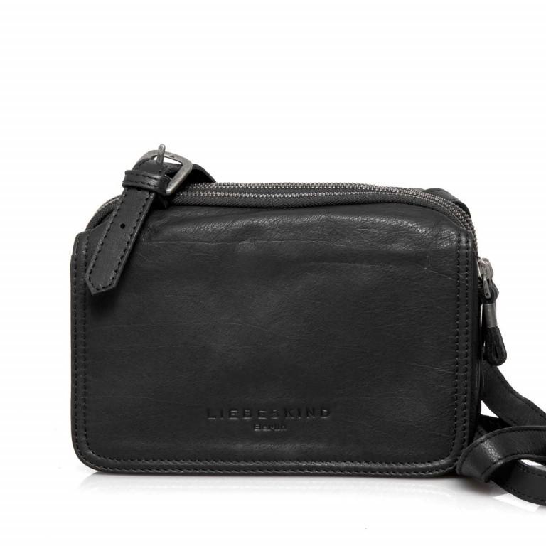 LIEBESKIND Vintage Maike 6 Tasche Black, Farbe: schwarz, Marke: Liebeskind Berlin, EAN: 4051436837780, Abmessungen in cm: 23.0x17.0x7.0, Bild 1 von 4