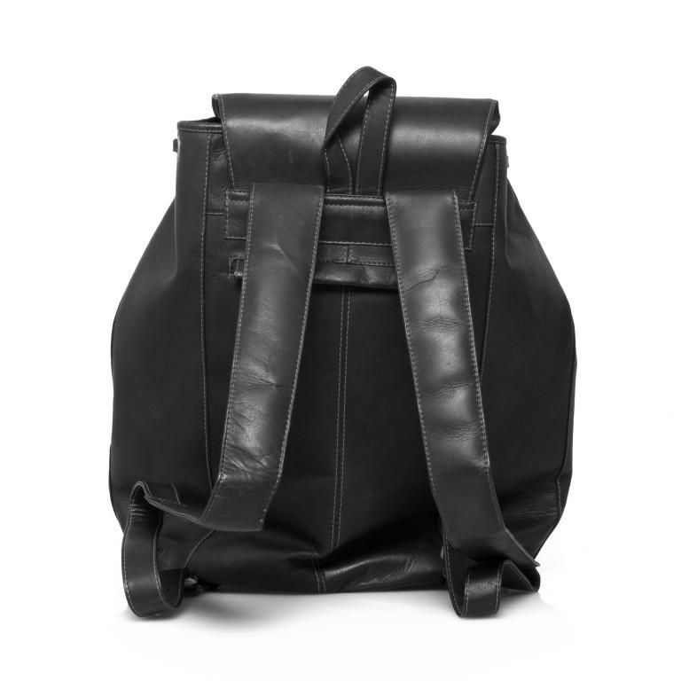 HAROLD'S Country Rucksack L Leder Schwarz, Farbe: schwarz, Manufacturer: Harolds, Dimensions (cm): 29.0x41.0x15.0, Image 5 of 5