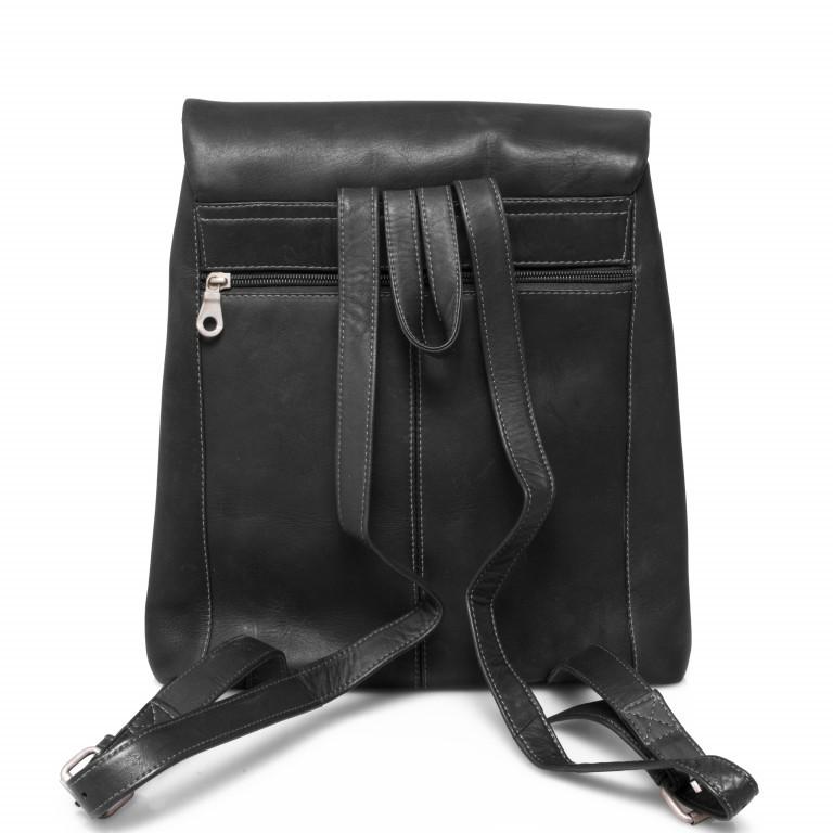 HAROLD'S Country Rucksack M Leder Schwarz, Farbe: schwarz, Marke: Harolds, Abmessungen in cm: 29.0x33.0x9.0, Bild 6 von 6
