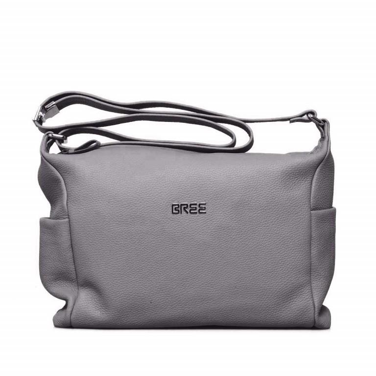BREE Nola 3 Beutel Leder Grau, Farbe: grau, Marke: Bree, Abmessungen in cm: 35.0x28.0x10.0, Bild 1 von 4