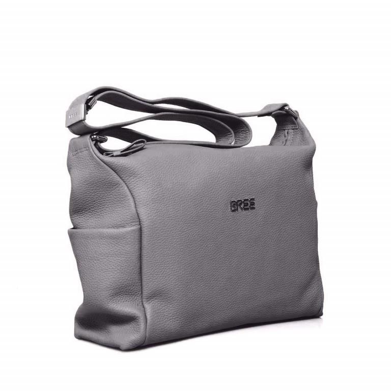 BREE Nola 3 Beutel Leder Grau, Farbe: grau, Marke: Bree, Abmessungen in cm: 35.0x28.0x10.0, Bild 2 von 4