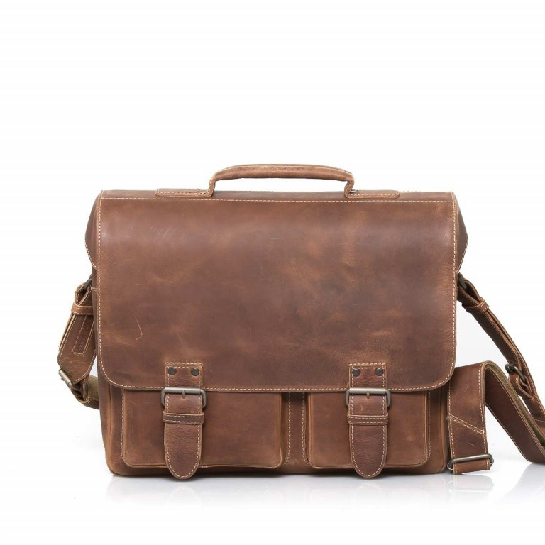 Aunts & Uncles Hunter Finn Leder Vintage Tan, Farbe: cognac, Manufacturer: Aunts & Uncles, Dimensions (cm): 38.0x31.0x15.0, Image 1 of 2