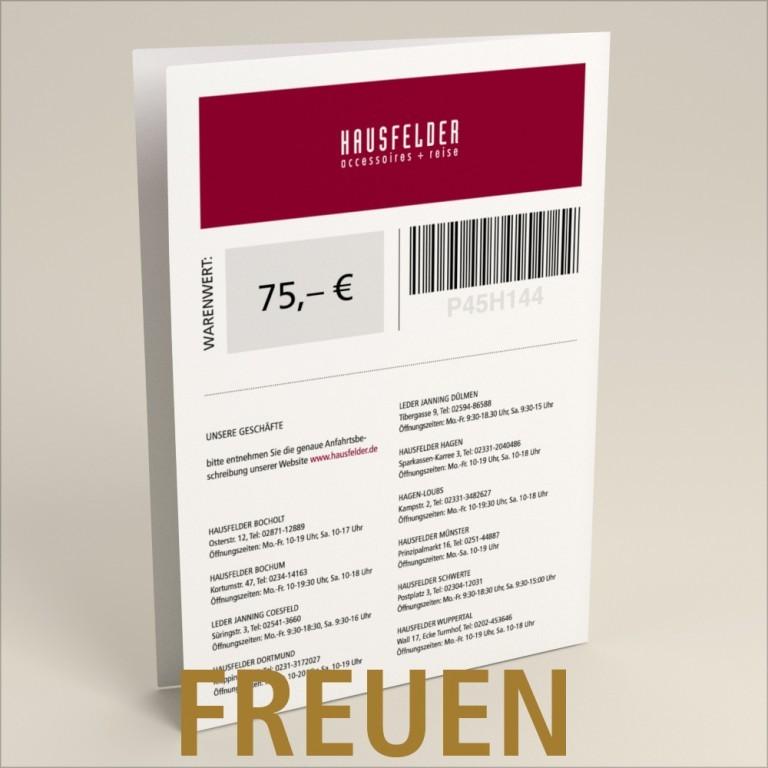 Gutschein zum selber ausdrucken 75 €, Marke: Hausfelder, Bild 4 von 4