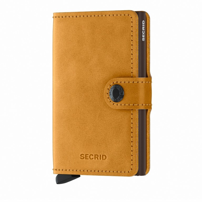 SECRID Miniwallet Vintage, Farbe: schwarz, grau, braun, cognac, Marke: Secrid, Abmessungen in cm: 6.8x10.2x1.6, Bild 1 von 1
