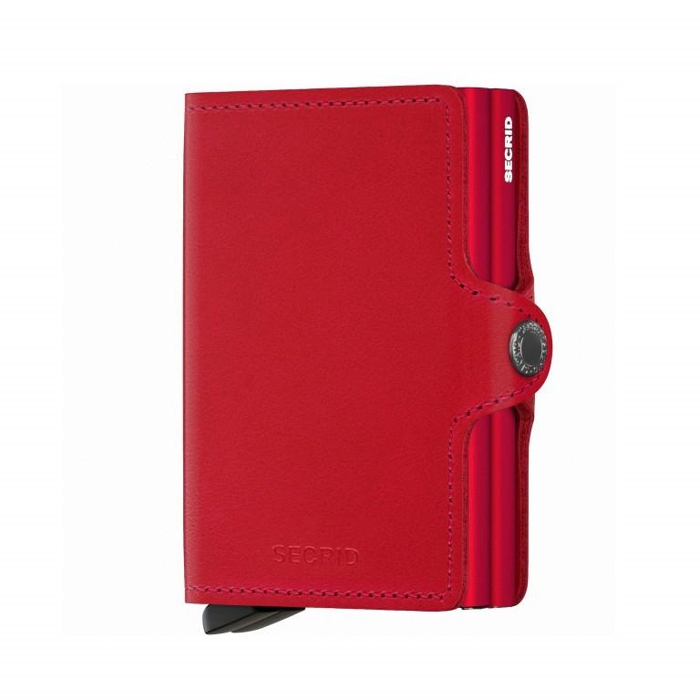 SECRID Twinwallet 520-7824, Farbe: schwarz, rot/weinrot, Marke: Secrid, Abmessungen in cm: 7.0x10.2x2.5, Bild 1 von 1