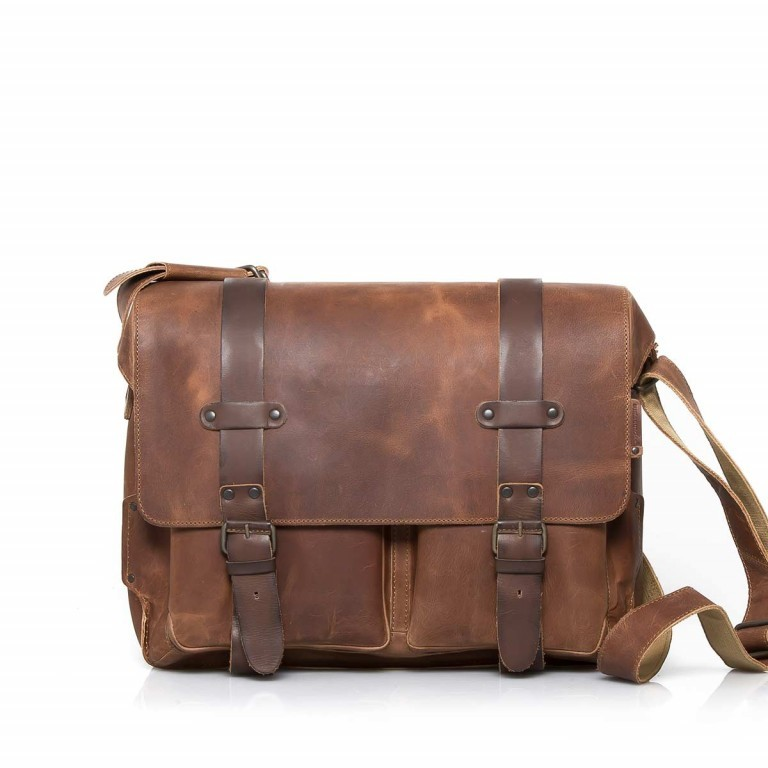 Aunts & Uncles Hunter Dan Leder Vintage Tan, Farbe: cognac, Marke: Aunts & Uncles, Abmessungen in cm: 40.0x31.0x13.0, Bild 1 von 2