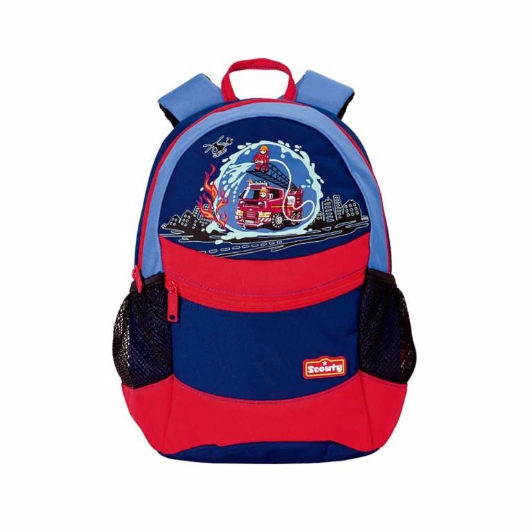 Scout Scouty Rucksack Feuerwehr, Farbe: rot/weinrot, Marke: Scout, EAN: 4007953301075, Abmessungen in cm: 23.0x30.0x15.0, Bild 1 von 1