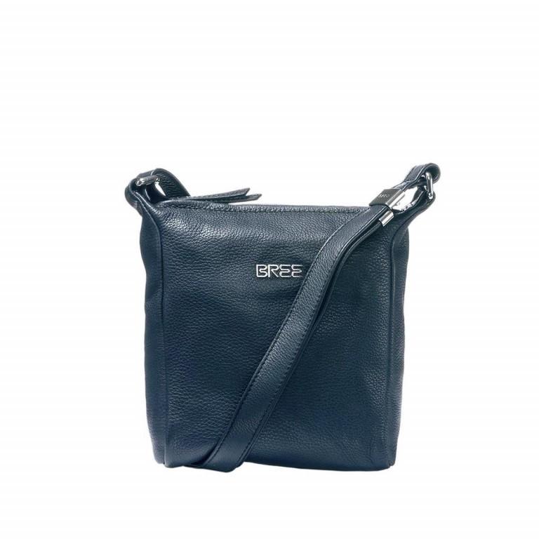 BREE Nola 1 Handtasche Leder Dunkelblau, Farbe: blau/petrol, Marke: Bree, Abmessungen in cm: 18.0x20.0x6.0, Bild 1 von 1