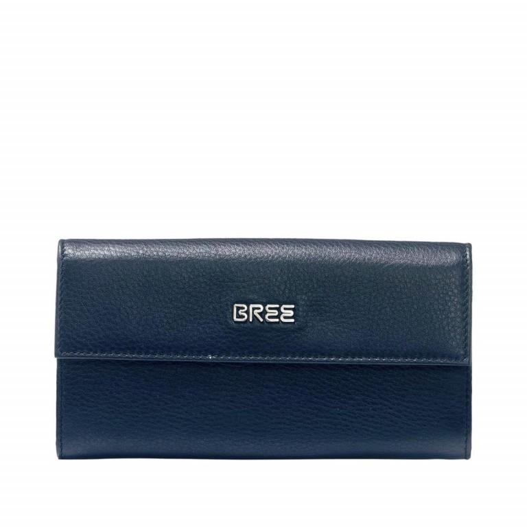 BREE Nola 100 Flachbörse Leder Dunkelblau, Farbe: blau/petrol, Marke: Bree, Abmessungen in cm: 19.5x9.0x3.0, Bild 1 von 2