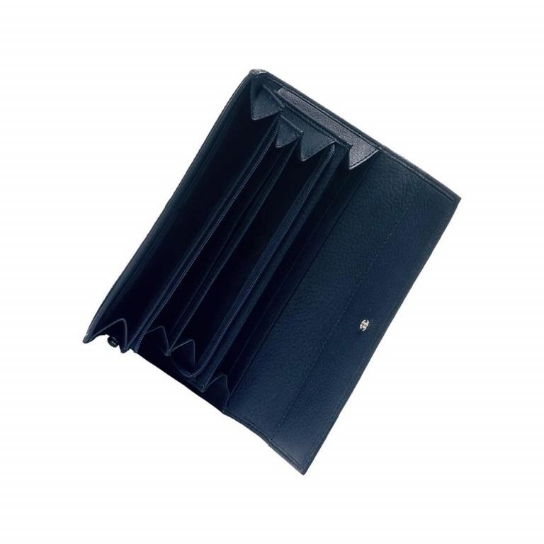 BREE Nola 100 Flachbörse Leder Dunkelblau, Farbe: blau/petrol, Marke: Bree, Abmessungen in cm: 19.5x9.0x3.0, Bild 2 von 2