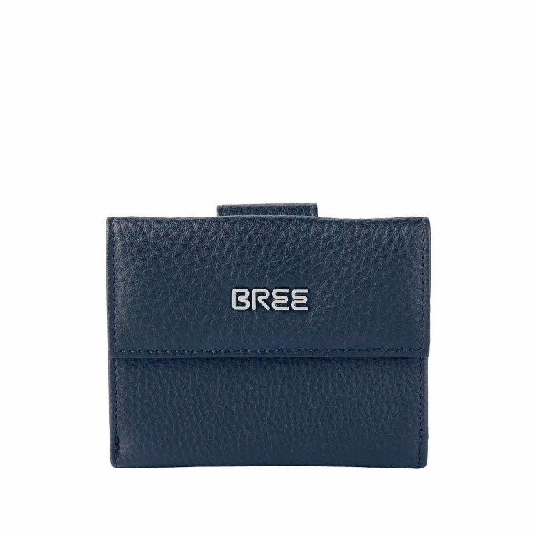 BREE Nola 104 Damenbörse Leder  Dunkelblau, Farbe: blau/petrol, Marke: Bree, Abmessungen in cm: 12.0x9.0x3.0, Bild 1 von 2