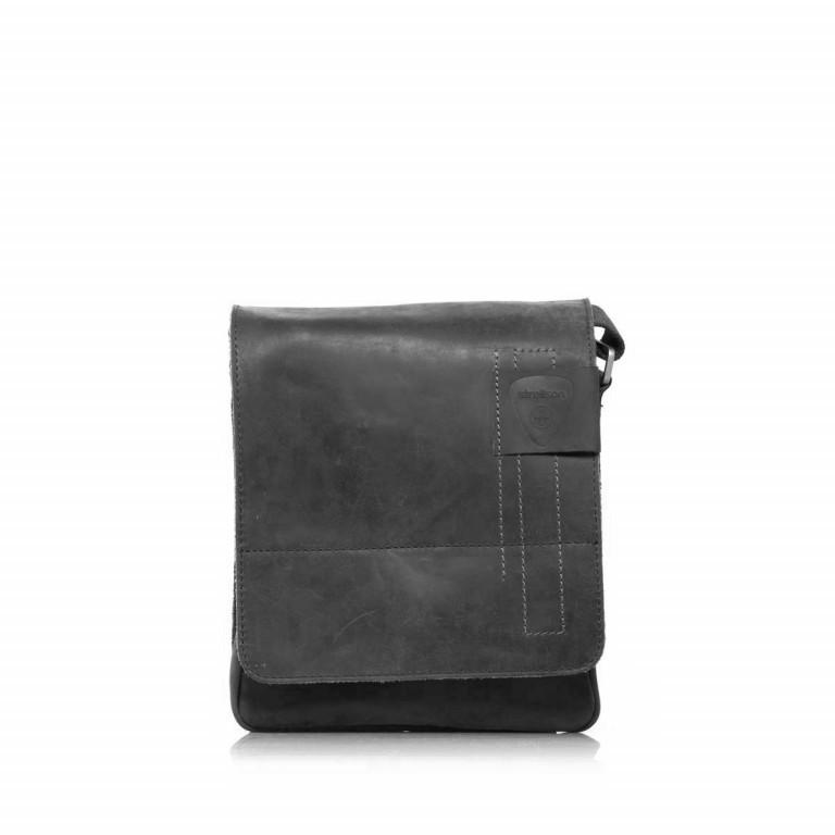 Strellson Richmond Messenger S Black, Farbe: schwarz, Marke: Strellson, EAN: 4053533065134, Abmessungen in cm: 20.0x23.0x6.0, Bild 4 von 5