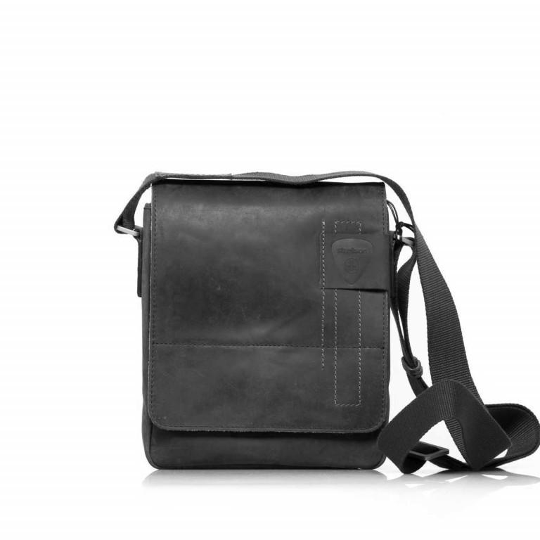 Strellson Richmond Messenger S Black, Farbe: schwarz, Marke: Strellson, EAN: 4053533065134, Abmessungen in cm: 20.0x23.0x6.0, Bild 1 von 5