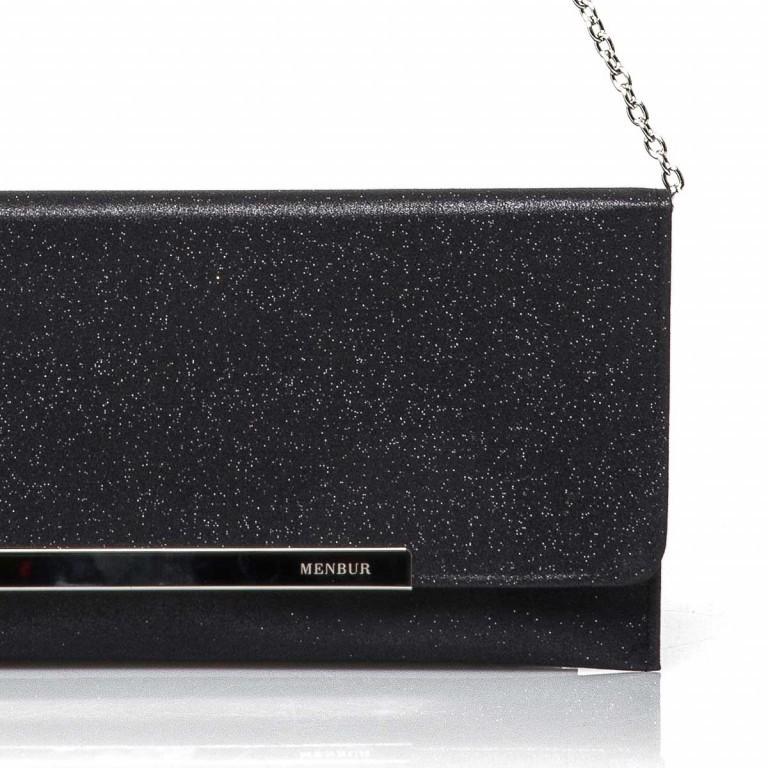 Menbur Clutch mit Glitzereffekt Black, Farbe: schwarz, Marke: Menbur, Abmessungen in cm: 30.5x14.5x0.5, Bild 2 von 2