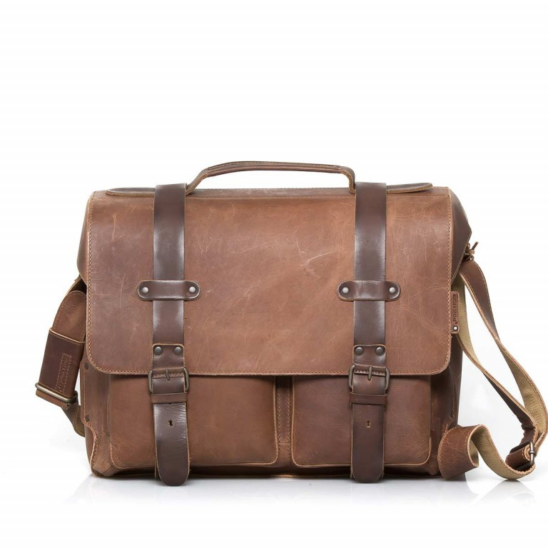 Aunts & Uncles Hunter Clark Leder Vintage Tan, Farbe: cognac, Marke: Aunts & Uncles, Abmessungen in cm: 41.0x32.0x16.0, Bild 1 von 2