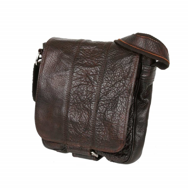 Bull & Hunt Speed Tasche Waxed-Brown, Farbe: braun, Manufacturer: Bull & Hunt, Dimensions (cm): 21.0x23.0x7.0, Image 2 of 4