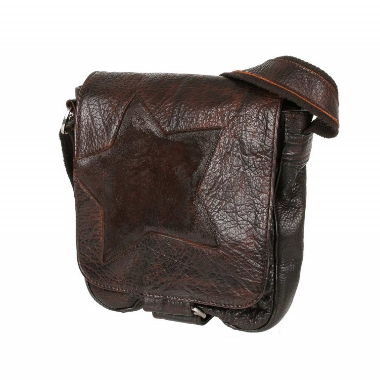 Bull & Hunt Speed Tasche Waxed-Brown, Farbe: braun, Manufacturer: Bull & Hunt, Dimensions (cm): 21.0x23.0x7.0, Image 1 of 4